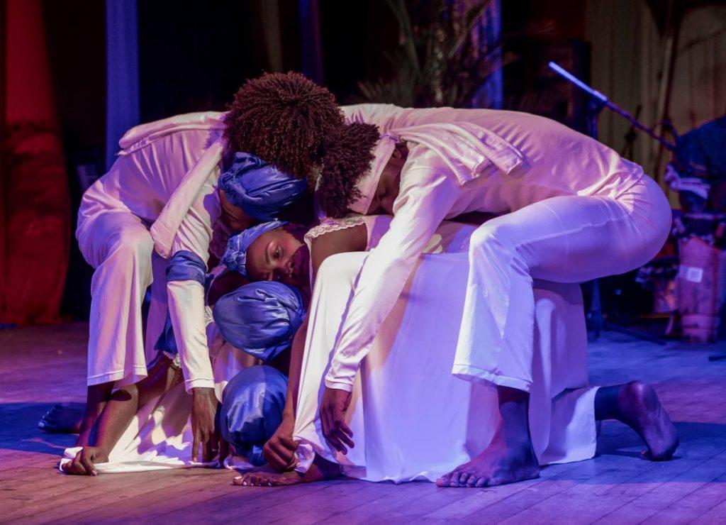 Haitian performers participate in the Pembroke Carifesta Salaaka Festival on Monday at Pembroke Heritage Park, Goldsborough.