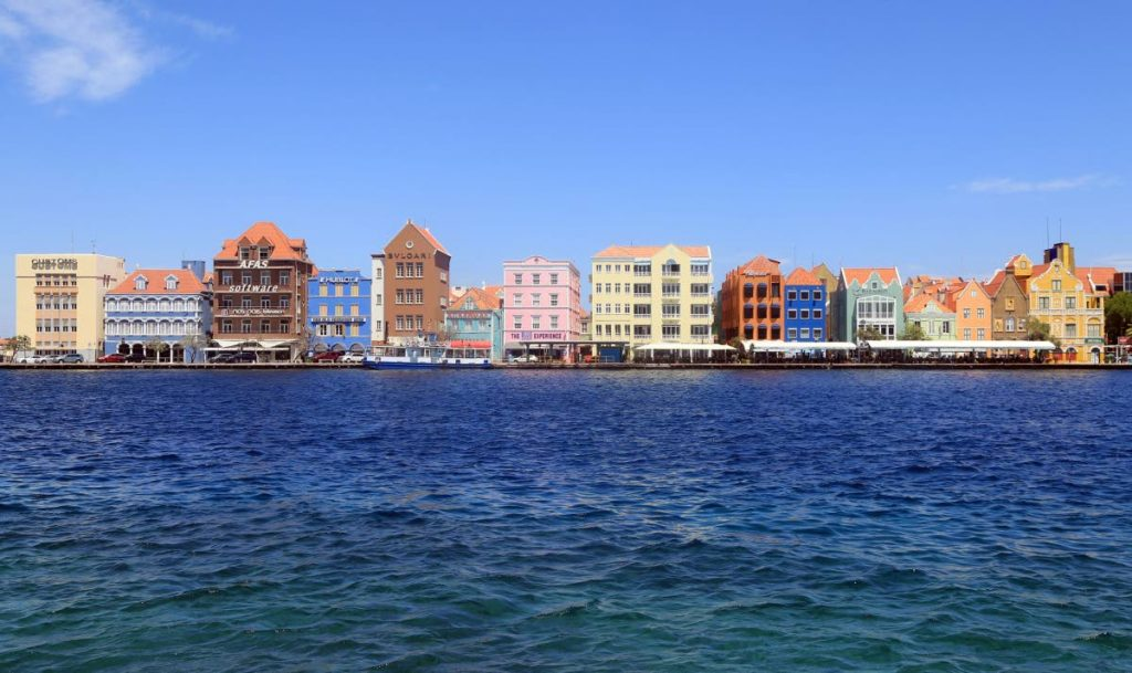 Colourful buildings in Willemstad on St Anna's Bay.