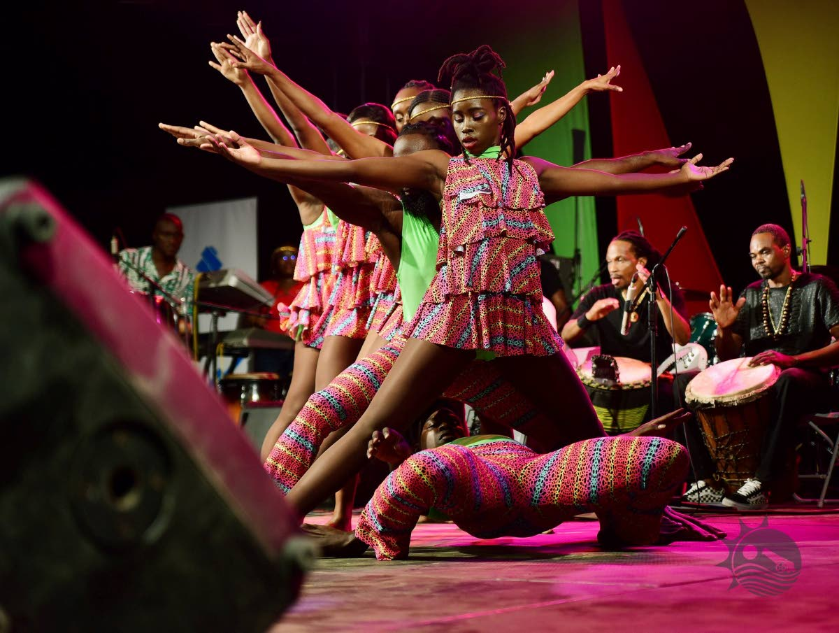 LIMBO LINE: Limbo dancers show their skills at the Carifesta Castara Bonfire event on Tuesday. PHOTO BY DIVISION OF CULTURE