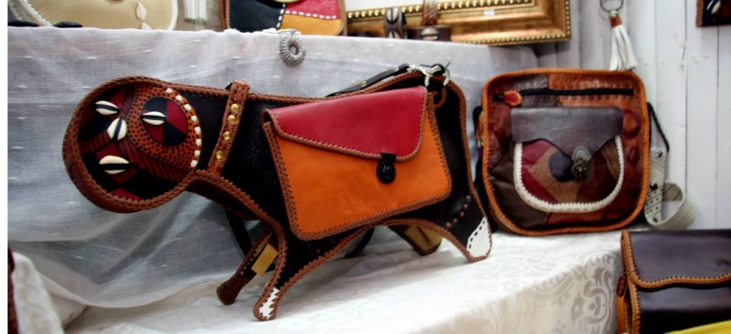 Unique bags that also function as craft available atKeyi ko Afrikan Arts owned by Trinidadian Khali Kwodwo Keyi