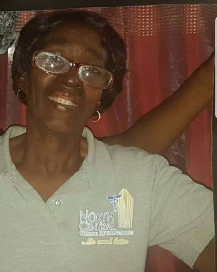 Hermina Doughty, 71, was reported missing by relatives who last saw her at her Trincity home on Saturday afternoon.  She is a diabetic and suffers with high blood pressure. Relatives are asking anyone with information to contact the police. PHOTO COURTESY RELATIVES.