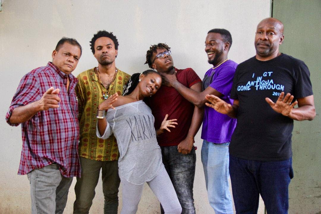 Aron voice actors: (L-R) Anand Lawkaran, Nickolai Salcedo, Tishanna Willams, Levee Rodriguez, Jayron Remy, and Errol Fabien.