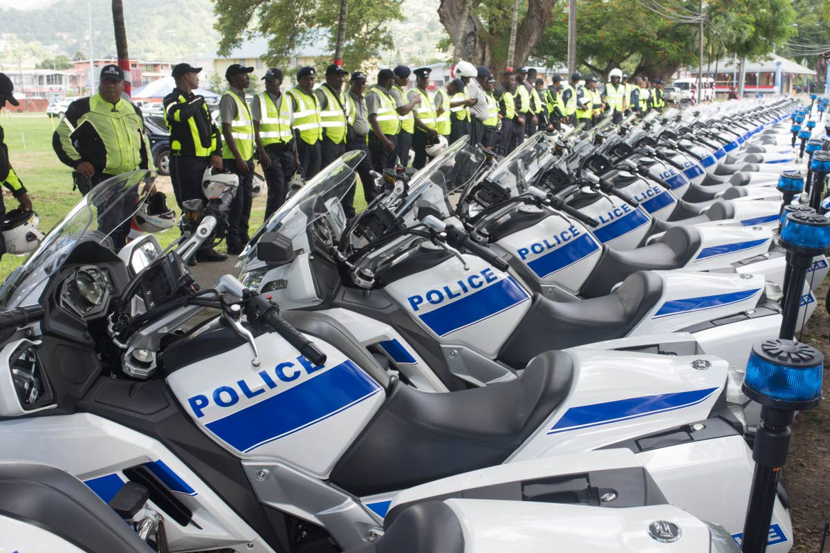 TT police received 200 motorcycles from the People's Republic of China.