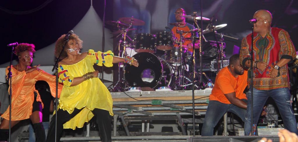 Legendary band Kassav were a hit at the Island Beats Super Concert at the Queen's Park Savannah on Saturday night.    PHOTOS BY ANGELO M MARCELLE