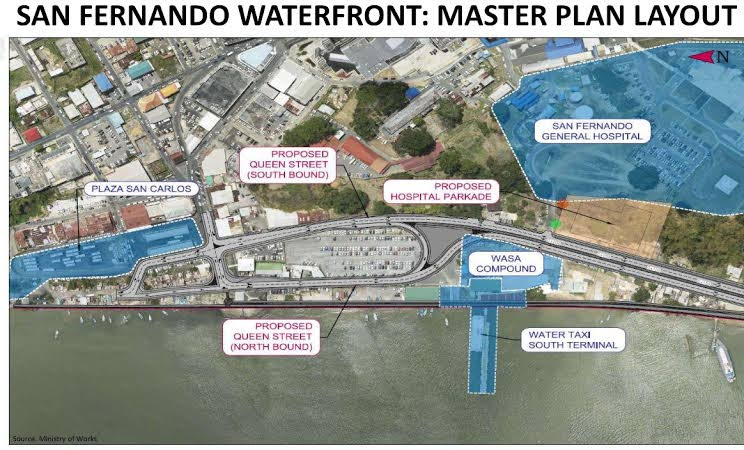 San Fernando Waterfront Master Plan Layout presented during a public consultation at San Fernando City Hall on August 21. Source: Udecott
