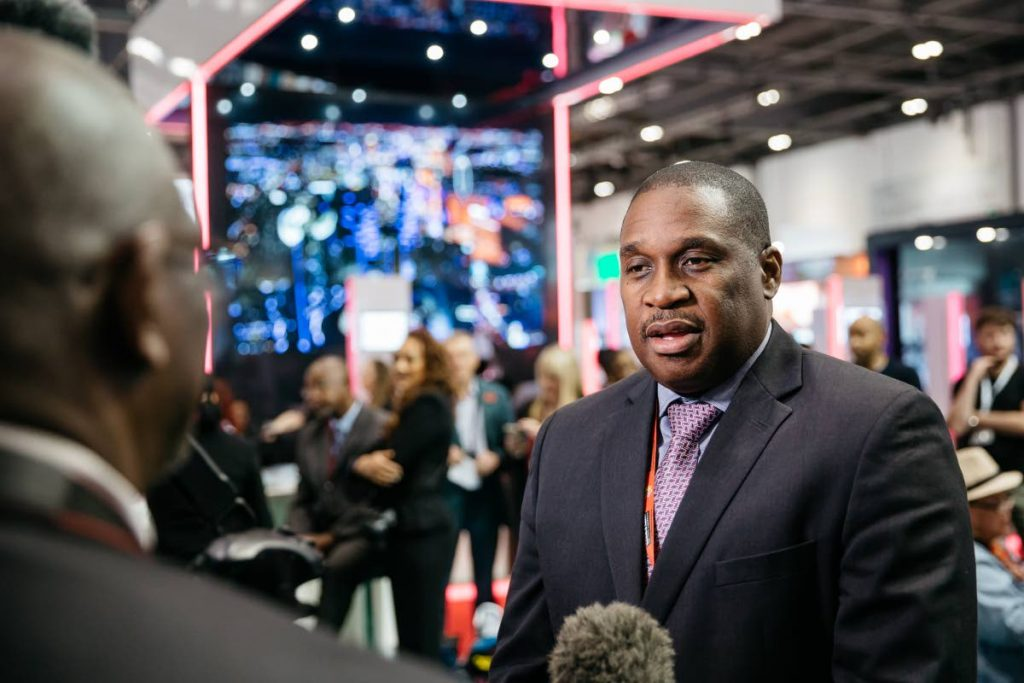 Tobago Tourism Agency CEO Louis Lewis, right, is interviewed by the Caribbean Tourism Organisation at the World Travel Market 2017 in London, United Kingdom.