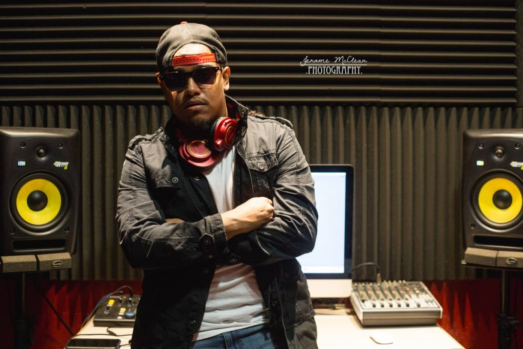 Mevon Soodeen, the coolest nerd in TT music in his home studio.  Photos: Jerome McClean Photography