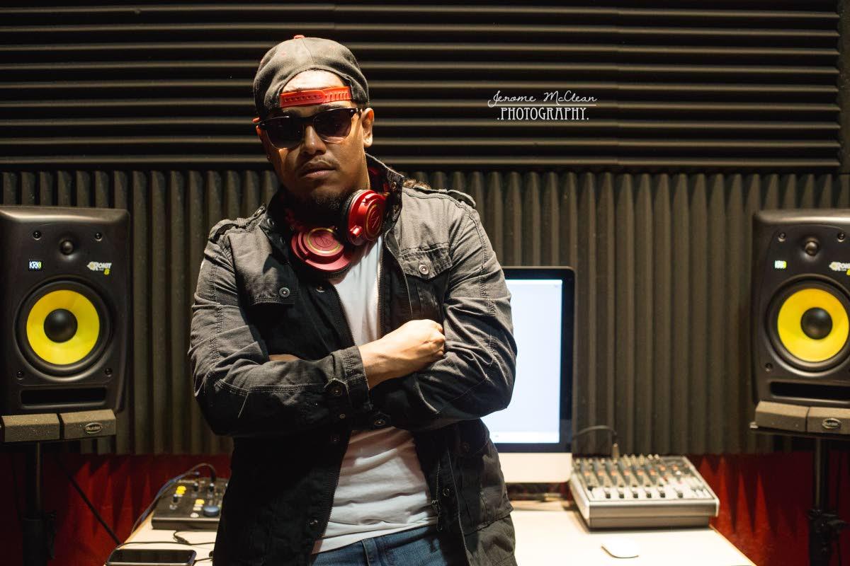 Mevon Soodeen, the coolest nerd in TT music in his home studio.  Photos: Jerome McClean Photography
