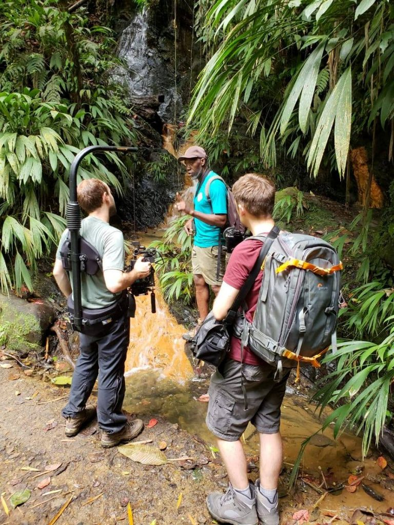 Local tour guide William Trim chats with a crew from National Geographic Travellers in July this year.