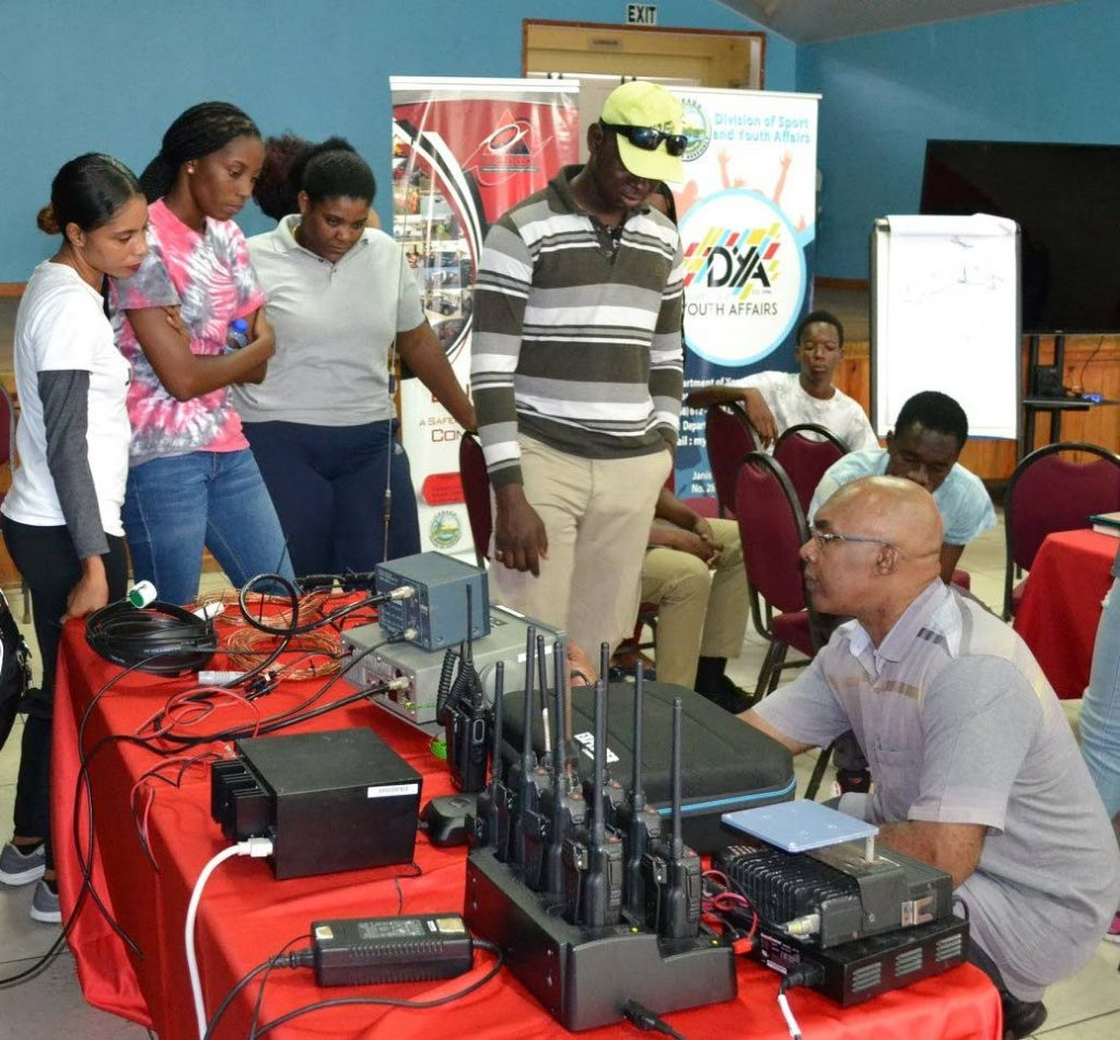 The Department of Youth Affairs in collaboration with TEMA hosted a disaster preparedness and management workshop at the Calder Hall Community Centre. Participants engaged in hands-on radio communications sessions with TEMA's radio operator Curtis Roberts.