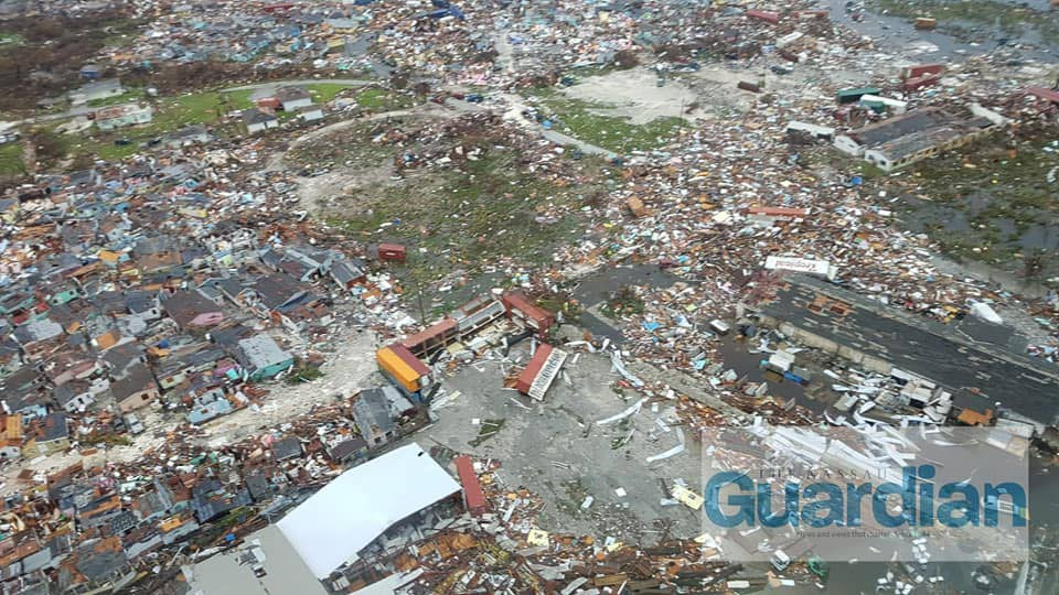 Aerial photos of Marsh Harbour, Abaco, Bahamas as officials flew over the area on Tuesday to survey the damage. Prime Minister Dr Hubert Minnis said Hurricane Dorian visited