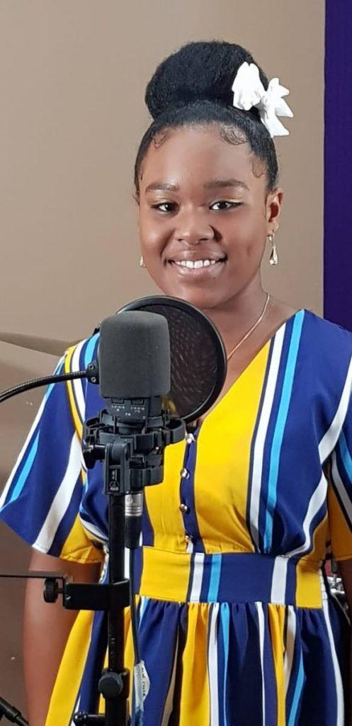 Alyssa Joseph in studio recording her gospel release You Fill Me Up.