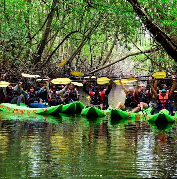 Kayaking in the Caroni swamp.