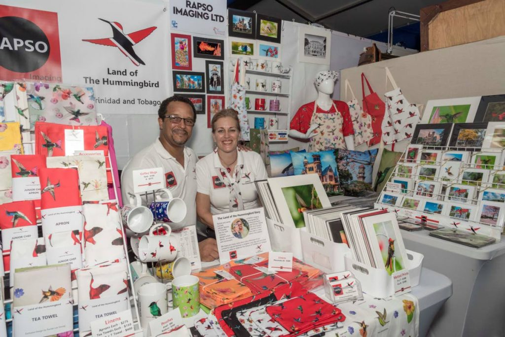 James Solomon and Rachel Lee Young's booth at the recently-concluded 14th edition of Carifesta in TT.