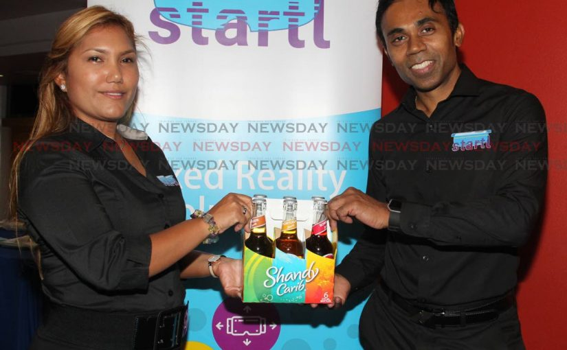 Carib Shandy augmented reality series, new label