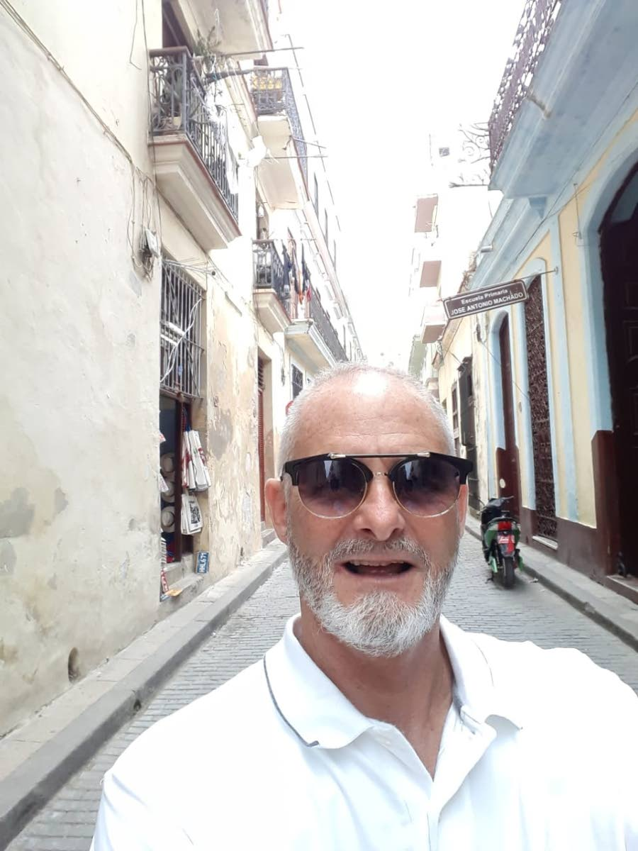 MAIN IMAGE  Mark Pereria on one of his travels.