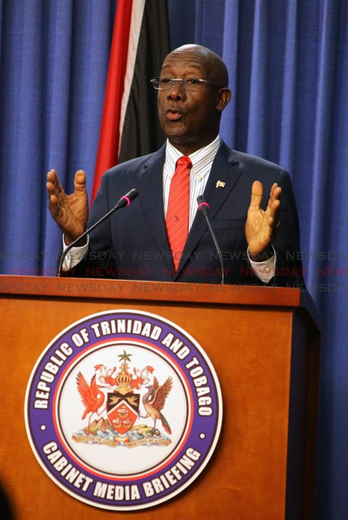 Prime Minister Dr Keith Rowley PHOTO BY ROGER JACOB