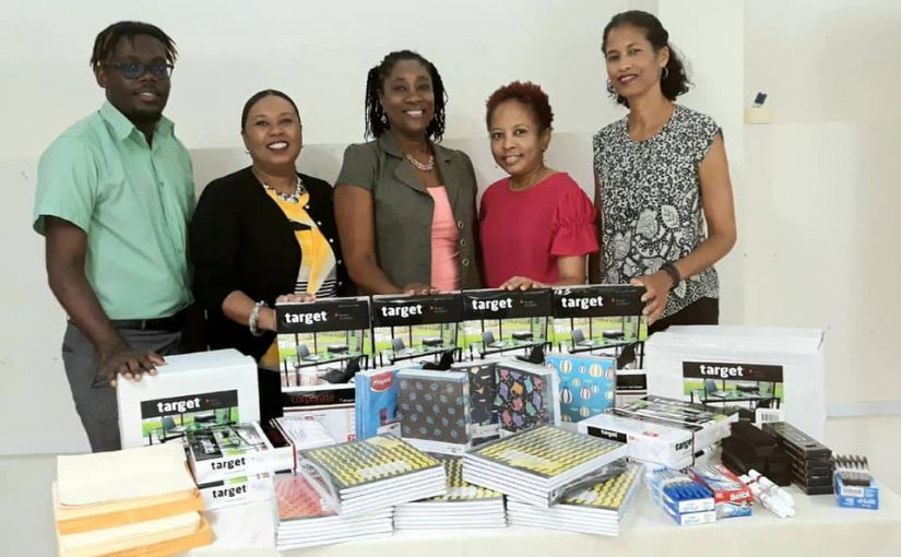 Schools for the deaf receive stationery supplies