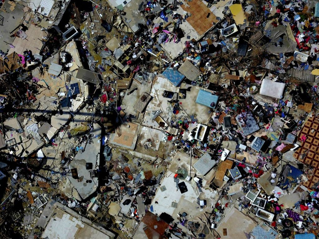 The rubble of a destroyed neighborhood in the aftermath of Hurricane Dorian in Abaco, Bahamas, on Tuesday, September 17, 2019. Dorian has caused some US$7 billion in damage in the Bahamas alone. (AP Photo/Ramon Espinosa)