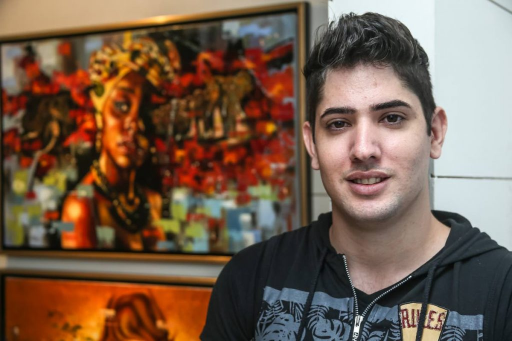 Cuban artist Yaniel Permomo will exhibit his work at Horizons Art Gallery from September 25. PHOTOS BY JEFF MAYERS