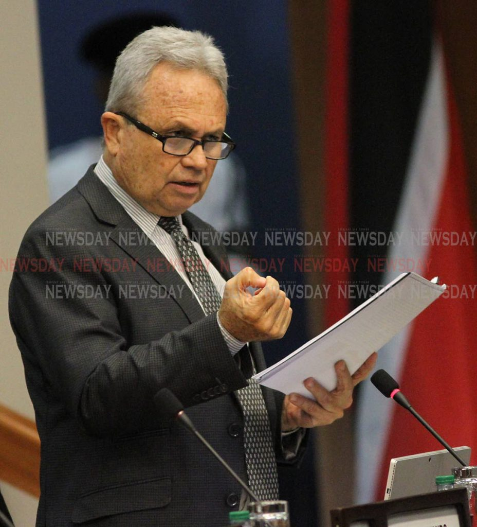 Minister of Finance Colm Imbert  -ANGELO MARCELLE