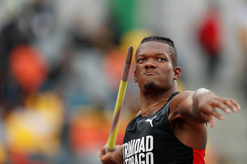 Keshorn Walcott, during his silver medal effort at the Pan American Games in Lima, Peru, on August 10. (AP PHOTO)