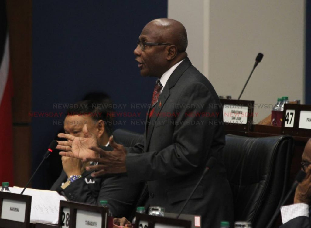 In this September 9 file photo, Naparima MP Rodeny Charles addresses Parliament. -