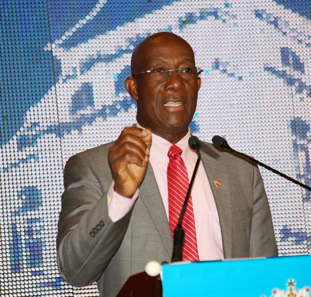PM Dr Keith Rowley The Ministry of Finance spotlight on the budget at the ballroom of the Radisson Hotel in Port of Spain. PHOTO SUREASH CHOLAI