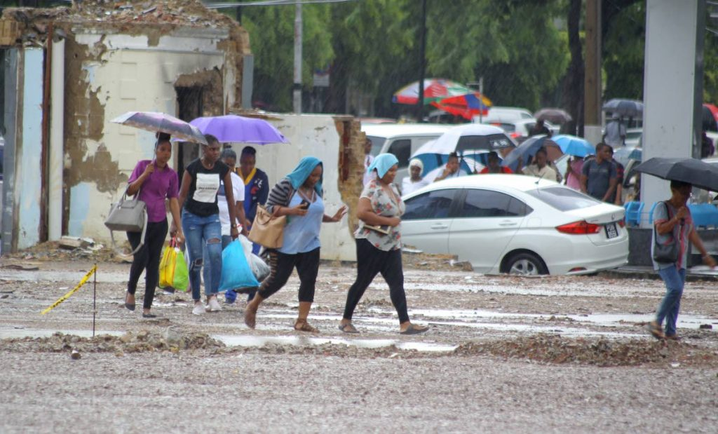 Flooding in the capital city,  Financial Complex, Twin Towers. Independence Square, Port of Spain. Thursday, October 10, 2019. PHOTO BY ROGER JACOB.