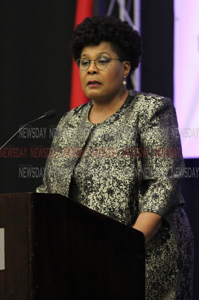 President  Paula-Mae Weekes delivers the feature address at the opening ceremony of the Caribbean Congress on Adolescent and Youth Health, Hyatt Regency. PHOTO:ANGELO M. MARCELLE 15-10-2019 - ANGELO_MARCELLE