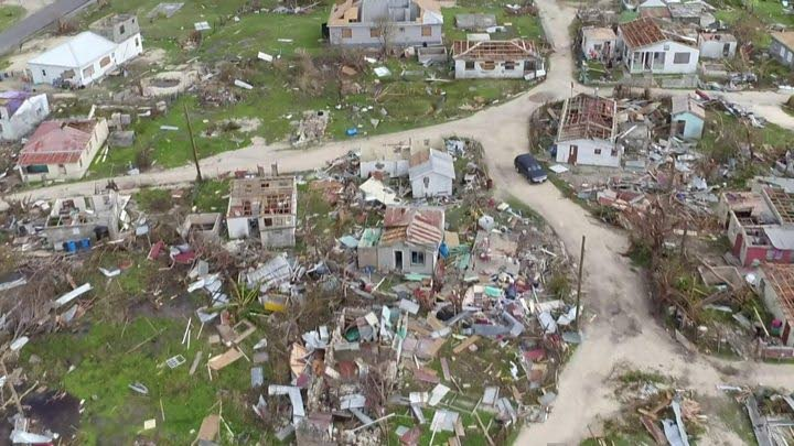 Most of the buildings in Barbudawere destroyed during Hurricane Irma. -