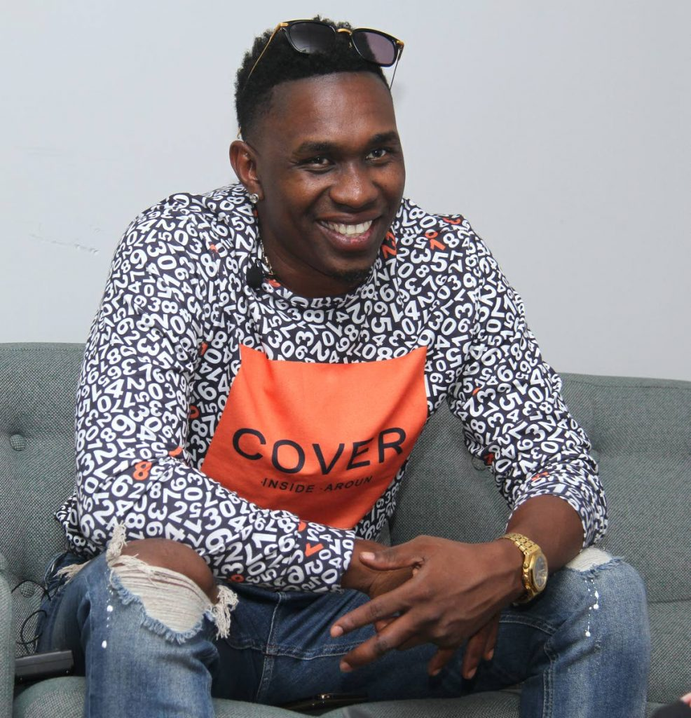 Cricketer and entertainer Dwayne Bravo wants to help end period poverty. PHOTO BY AYANNA KINSALE - Ayanna Kinsale