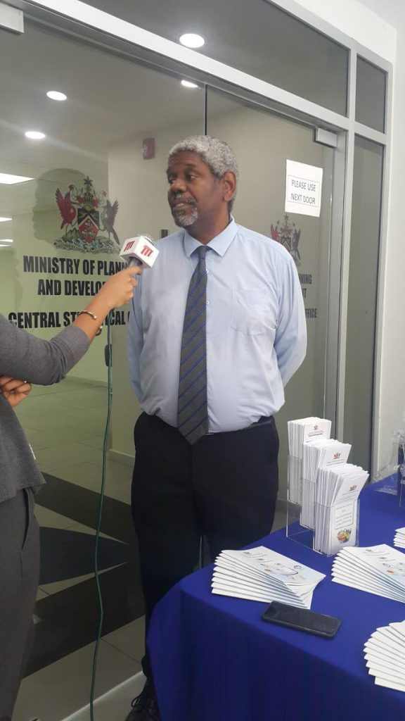 CSO director Sean O'Brien in a ttt interview during an open house in Port of Spain on Friday. - Narissa Fraser