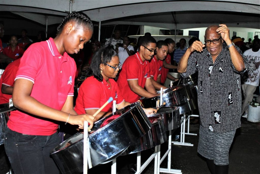 Melodians steelband performs at the launch of Panorama 2020 at the Queen's Park Savannah, Port of Spain on Sunday. - Gary Cardinez