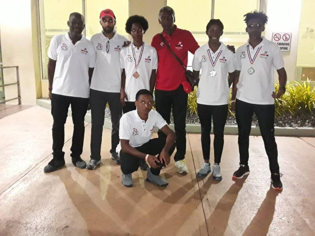 TT's 2019 Caribbean MTB Championships team which captured two silver and one bronze medal at this year's meet.  -