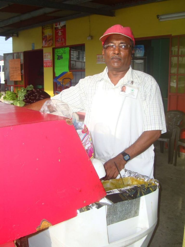 Balram Colai has been selling doubles for over 42 years, and has been a staple at St Helena Junction for about 35 years.  - BC PIRES