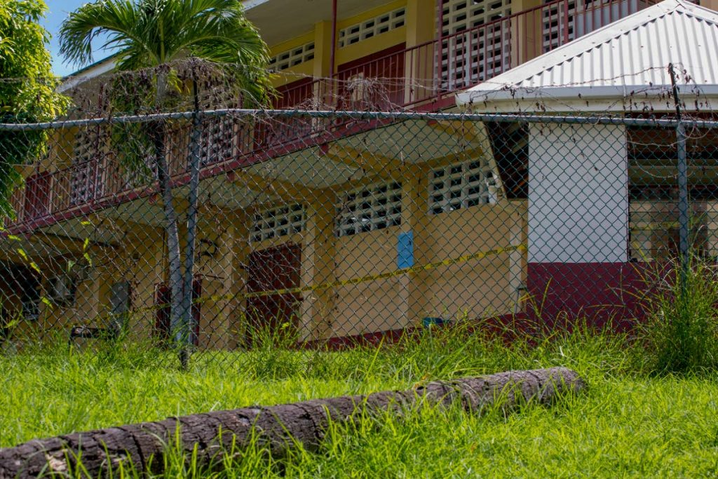 The unsafe laboratory area of the Scarborough Secondary School has been cordoned off. PHOTO BY DAVID REID - DAVID REID