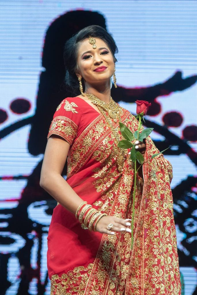 SECOND PLACE: Canada's  Kristiana McCarthy placed second at the National Ccouncil for Indian Culture (NCIC) Divali Queen 2019 pageant on Friday. - ELLIOT FRANCOIS