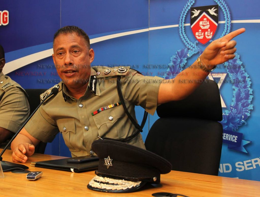 CONSPIRACY: Police Commissioner Gary Griffith at a recent press briefing.  PHOTO BY ROGER JACOB - ROGER JACOB