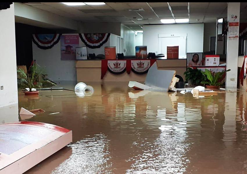 Scotiabank in downtown Scarborough was flooded in the aftermath of Tropical Storm Karen on September 22. -