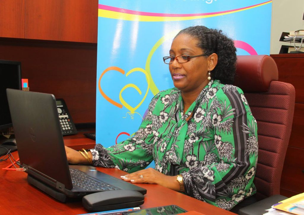 Melina Humphrey, adoption manager of the Children's Authority, at its main office, Wrightson Road, Port of Spain.  - ROGER JACOB