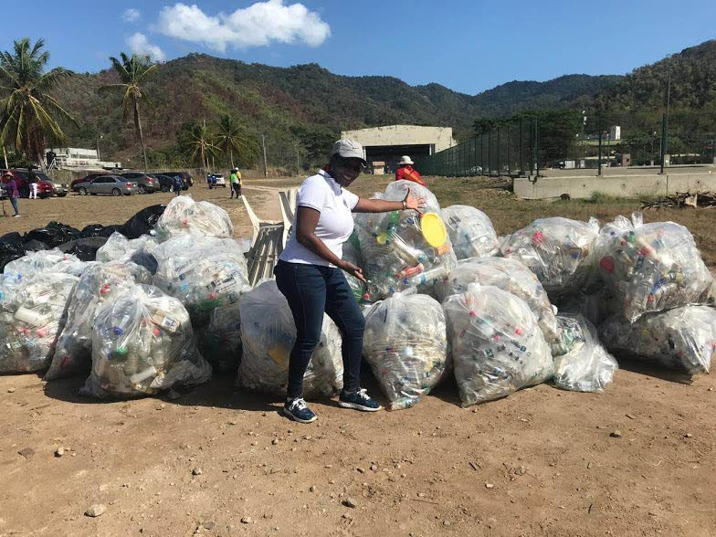 A volunteer during one of the Ambiance Project's recent clean-up drives.  -