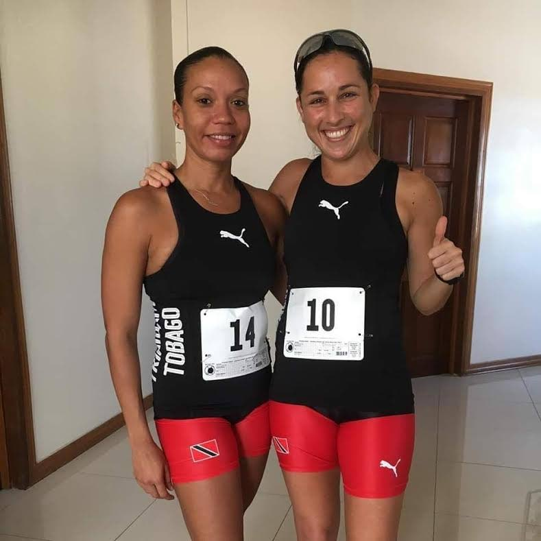 TT distance runners Salina Puchet, left, and Sjaelan Evans, seventh and sixth place finishers at the Guyana leg of the South American 10K on Sunday.  -