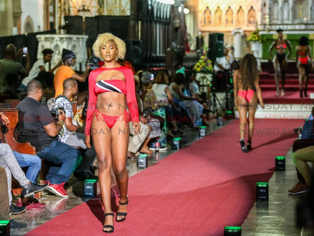 Another model uses a bikini with the National Colours.  - Jeff Mayers