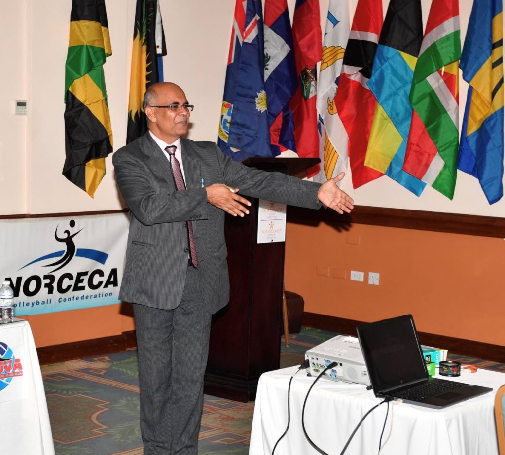 Mushtaque Mohammed was re-elected as CAZOVA president over the weekend. -