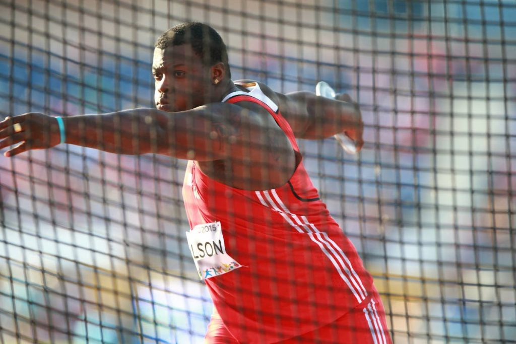 TT discus thrower Quincy Wilson.  - ALLAN V CRANE
