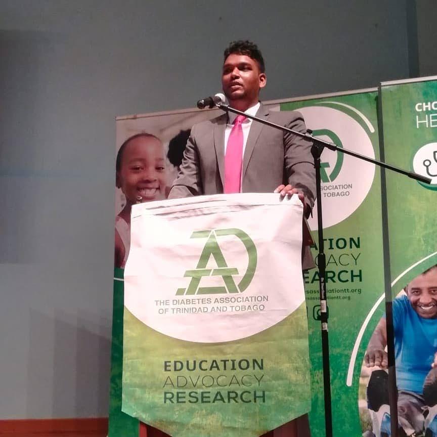 Andrew Dhanoo president of the Diabetes Association of TT Photo courtesy Facebook -