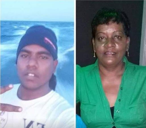 Jason Baptiste and mom Shaffina Khan. -
