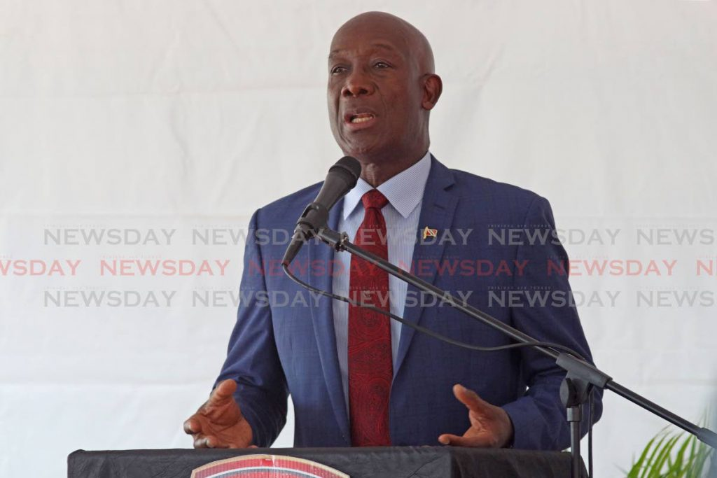 Prime Minister Dr. Keith Rowley  Photo by Marvin Hamilton