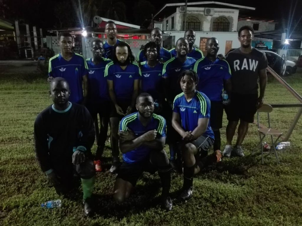 Pinto United players after advancing to their first Fishing Pond Football League finals.  - Stephon Nicholas
